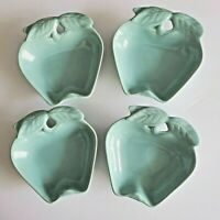 Aqua Turquoise Apple Bowls Belmar California USA 734 Pottery 4 Vintage Dishes