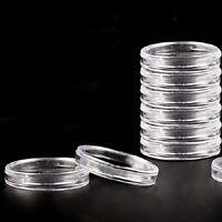 20x  23mm appliqué clair rond étuis de rangement capsules plastique supp