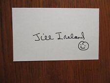 JILL  IRELAND (The Man From U.N.C.L.E.)(Died in 1990) Signed  3 x 5  Index  Card