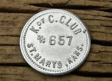 1900s SAINT ST. MARYS KANSAS KS (POTTAWATOMIE CO) old KNIGHTS OF COLUMBUS TOKEN