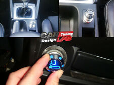 CAR European AUTO Chrome Adapter Cigar Plug Cigarette Lighter Blue LED Light