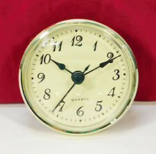 """Complete Clock Insert Fit Up Movement 2 3/4"""" Diameter Ivory Arabic Dial GIA2.75"""