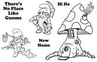 Unmounted rubber stamps Home for Gnomes