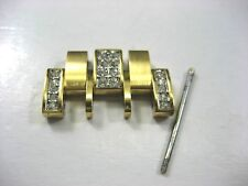 WITTNAUER 12B14 PARTS LINK MEN'S WATCH GOLD PLATED & CRYSTAL 20.00 MM LINK LINK
