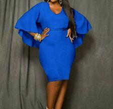Batcape Dress XXL Blue