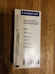 STAEDTLER LUMOCOLOR - CORRECTION PEN - BOX OF 10 - NEW