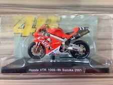 Leo 1:18 MotoGP #46 ROSSI Honda VTR 1000-8H Suzuka 2001 Bike Model NEW SEALED
