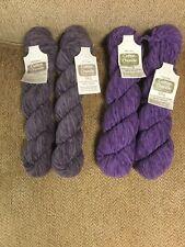 New ListingRowan Yarn Vintage Chunky Cotton Chenille 2 Purple & 2 Gray