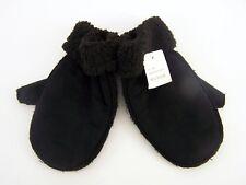 Damenhandschuhe Faust Art Velours schwarz gefüttert Gr. L/XL 100 % Polyester