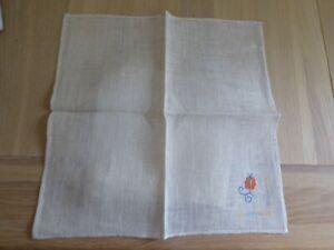 Floral Embroidered Linen Napkins
