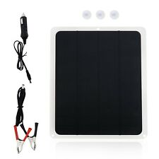 Solar Car Battery Charger Panel Trickle Outdoor Travel Lighter Plug