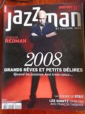 JAZZMAN musique et culture jazz N° 142 JOSHUA REDMAN LEE KONITZ LEGENDE DE STAX