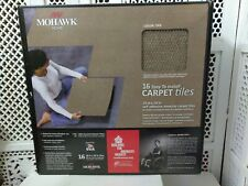 "Mohawk Home Carpet Tiles 18"" X 18"" TAN COLOR 16 TILES NIB"