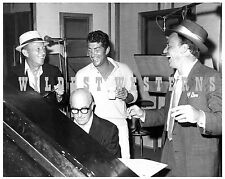RAT PACK Rare PHOTO Frank SINATRA Dean MARTIN Bing CROSBY candid making MUSIC