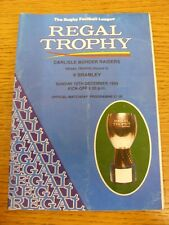 12/12/1993 Carlisle Border Raiders v Bramley [Regal Trophy] Rugby League Officia