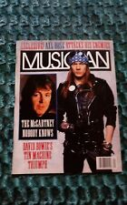 AXL ROSE Musician Magazine 1991 Paul McCarthey David Bowie's Tin Machine Clapton