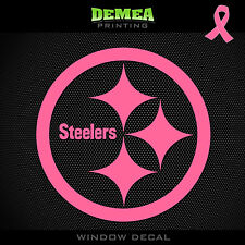 Steelers NFL -  Breast Cancer Awareness Pink Vinyl Sticker Decal 5""