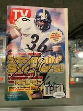 1998 JEROME BETTIS PITTSBURGH STEELERS SIGNED TV GUIDE MAGAZINE JSA AUTHENTIC