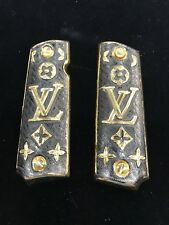 1911 LV Silver N Gold Plated German Silver Grips 45/38 super Colt Black