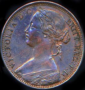 1865 PENNY Victoria Normal date AUNC/EF Freeman 50