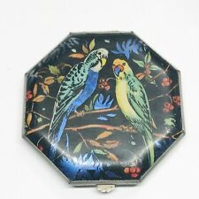 Antique Vintage Ladies Compact Gwenda Tap Flap Butterfly Wing Bird Designed