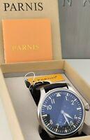 Parnis 6498 Big Pilot + OVP !! NEU !! Handaufzug Mechanische Uhr luxus Lederband