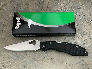 Spyderco Byrd Cara Cara 2 Folding Knife BY03PBK2 Black FRN Handle