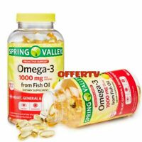 Spring Valley Omega-3 Fish Oil Soft Gels 1000 mg Heart Brain Health 180 Count