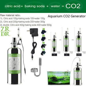 2L Double/ 2L/1L Aquarium CO2 Generator System Kit W/Solenoid Valve Atomizer DIY