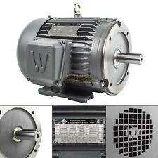 5 Hp 3 Phase Electric Motor C Face 3600 Rpm 184tc Tefc 230460 Volt Severe Duty
