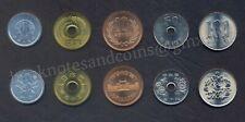 JAPAN COIN SET 1 + 5 + 10 + 50 + 100 Yen 1997 - 2005 Heisei UNC LOT of 5