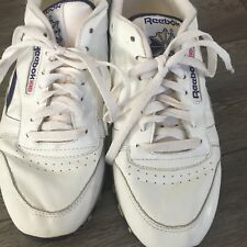 Vintage Reebok Men's Athletic Runners White Leather size 8