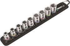 Wera 9 pièces 1cm embout carré 8mm to Hexagonal 19mm Ensemble de douilles &