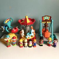 ELC Happyland Fairground Funfair 3 Rides 9 Figures Clowns Ringmaster Sounds