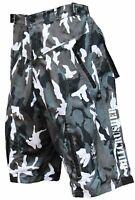 Men's Camo MTB BMX Baggy Padded Mountain Bike Shorts- 6 Pockets- Medium