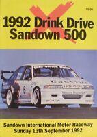 1992 Sandown 500 Race Program Group A VN Brock HRT Seton Johnson BMW M3 Bathurst