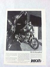 "1967 Ducati 350cc Sebring Motorcycle Original Print Ad ""Ride the Thoroughbred"""