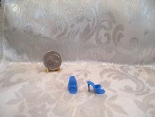 Vintage Mattel Barbie Blue Ot Open Toe Mule Dress Shoes Philippines Mint
