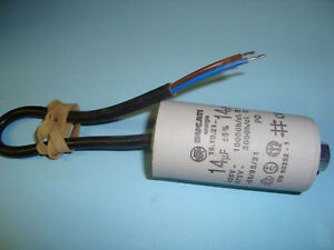 14uF Motor Run Capacitor 450V, Twin Cable