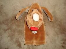 Wrinkles Brown Dog Red Tongue Hand Puppet Vintage 80's ganzbros