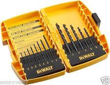 DEWALT DW1163 Heavy Duty 13 Piece Black Oxide Split Point Twist Drill Bit Set