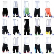 New Mens Cycling Brace Shorts Padded Lycra Road Bike Bicycle Bib Pants Tights