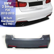 M-TECH Style Rear Bumper W/O PDC W/Single Outlet For BMW 12-16 3 Series F30 4Dr