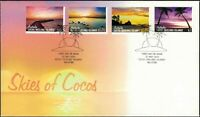 2012 COCOS (KEELING) ISLANDS Skies Of Cocos (4) FDC