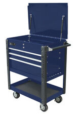 Homak Professional Service Cart-Bright Blue