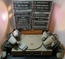PlayStation 1 Console Bundle - 4 Controllers - 23 Games JOB LOT