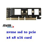 M.2 NVMe SSD NGFF to PCIE 3.0X4 X8 X16 PCI Express Adapter Expansion Card