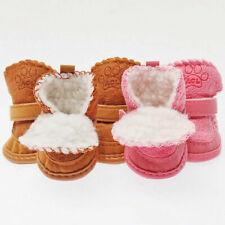 Pet Dog Puppy Winter Warm Shoes Anti-Slip Fancy Snow Boots Cotton Blend