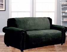 Dormire Microsuede Quilted Furniture Protector for Loveseat - Green