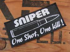 SNAKE PATCH - - - Sniper One shot One kill - - NOIR humour police fantaisie TIR